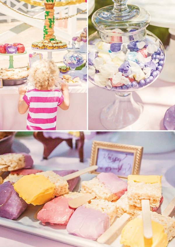 purple princess desserts