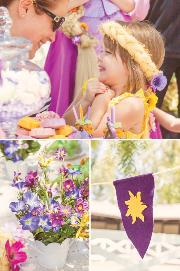 tangled rapunzel party decor and activities