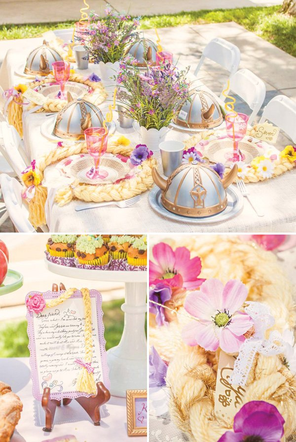 rapunzel themed place settings