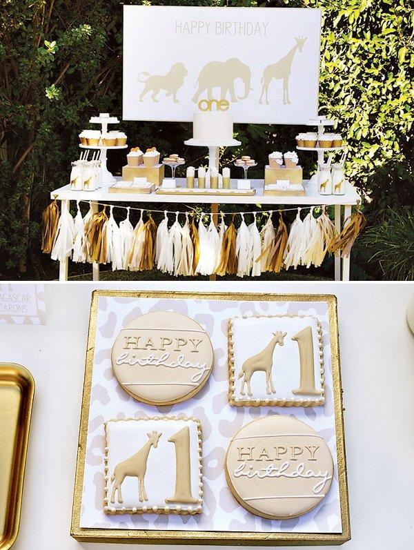 golden safari first birthday party ideas