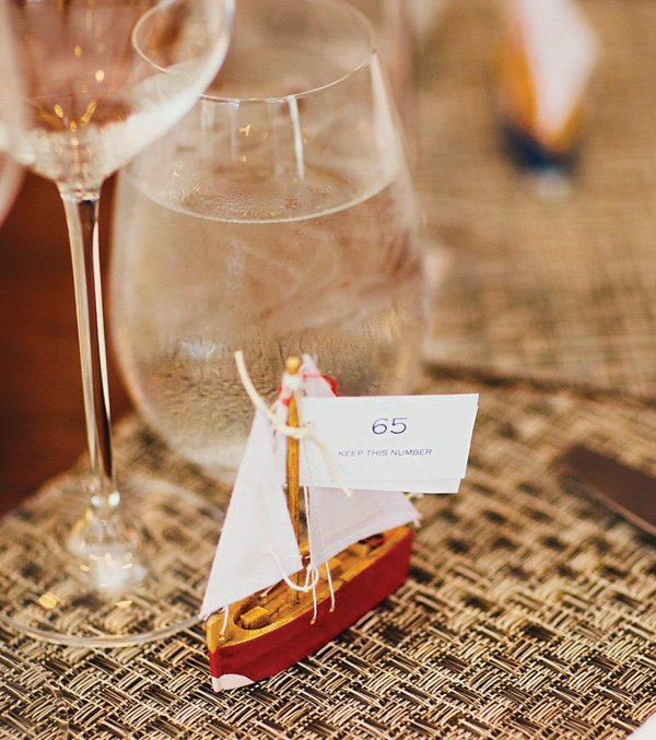 sail boat seating number for a raffle