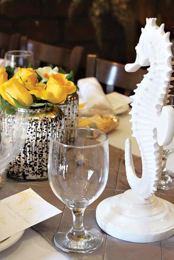 seahorse table centepiece