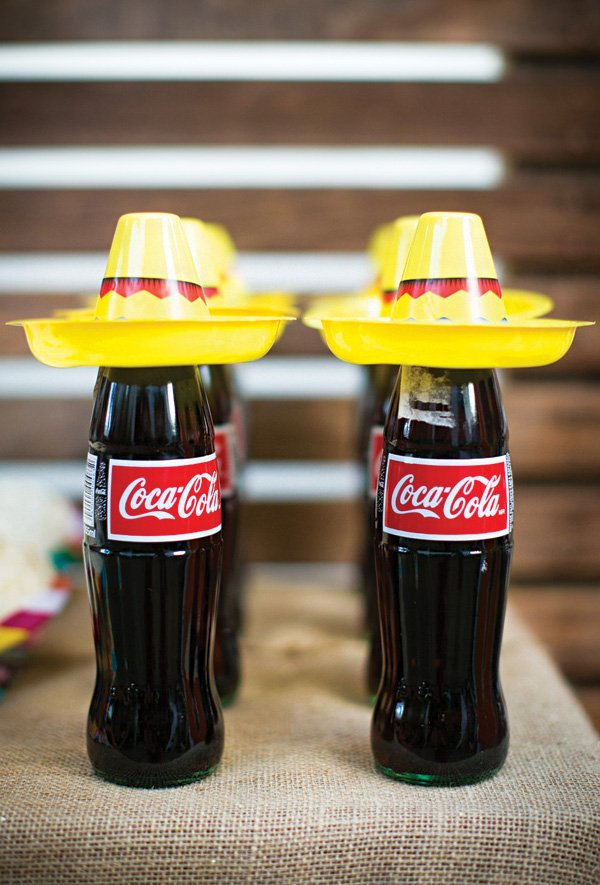 soda pop bottle sombreros