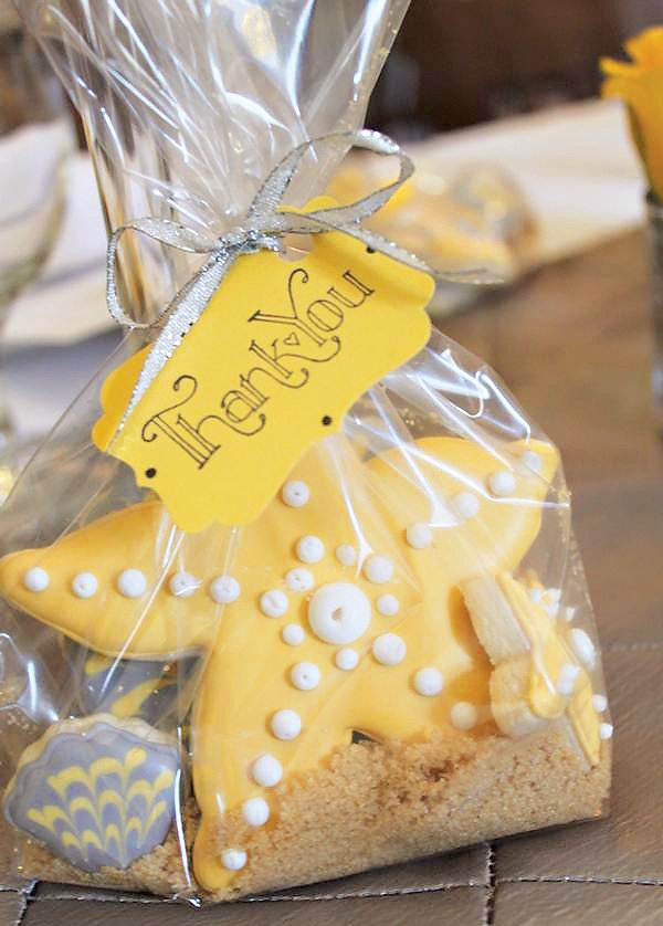 starfish cookie party favors