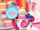 sweet shoppe party favors and gumball machine cake pop