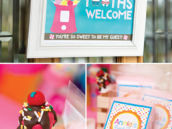 sweet tooths welcome birthday party sign