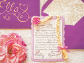 tangled rapunzel themed birthday party invitation