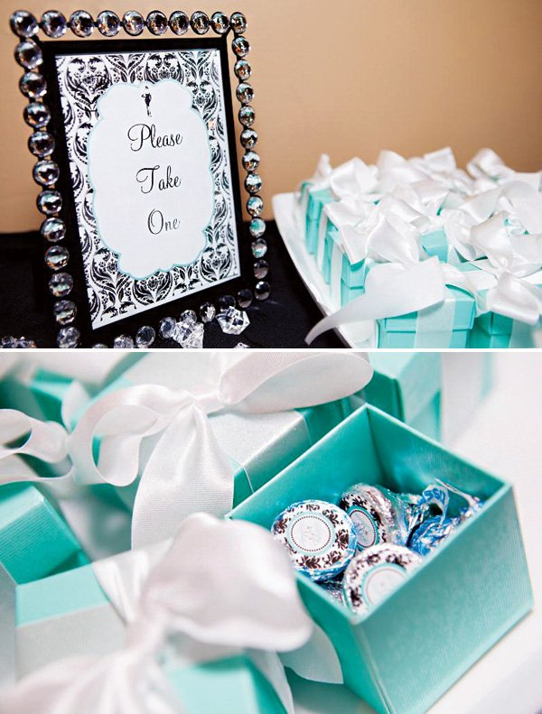 tiffany box party favors