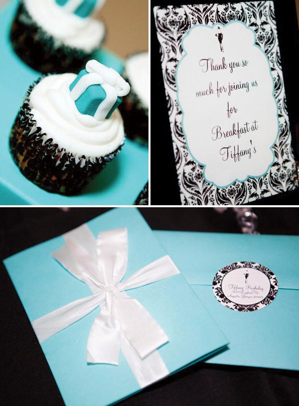 tiffany & co. themed party invitation