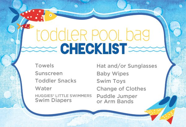 toddler pool bag checklist