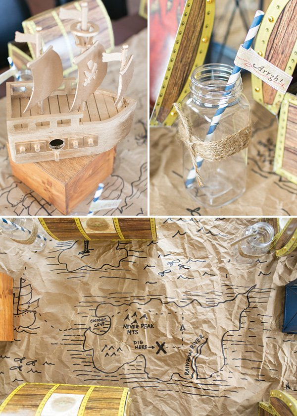 DIY treasure map table runner