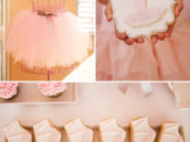 tutu and ballet slipper party cookies