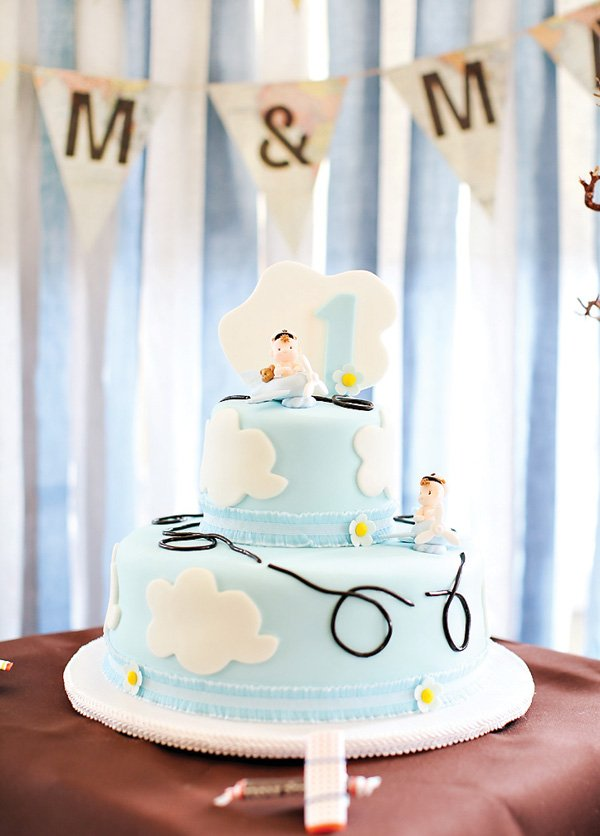twins airplane birthday cake