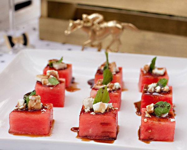 Watermelon Feta Mint Salad Cubes