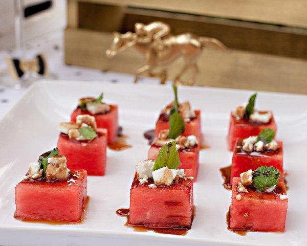 Watermelon Feta Mint Salad Cubes