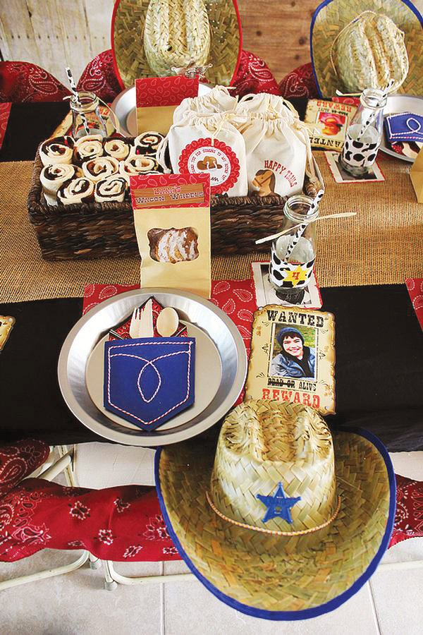 western themed place setting