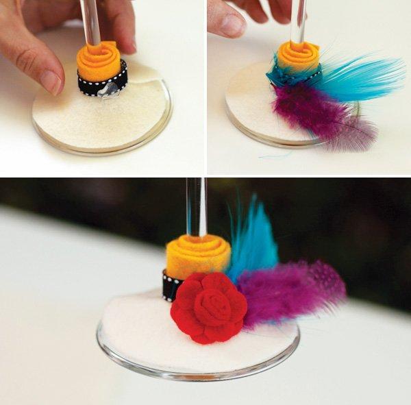 DIY Wine Glas Hats 6