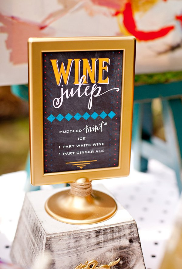 Wine Julep Cocktial with Free Printable Sign by HWTM