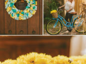 yellow vintage honeybee baby shower