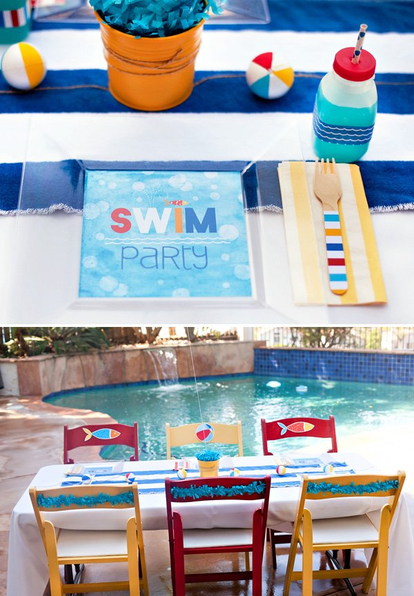 pool party tablescape