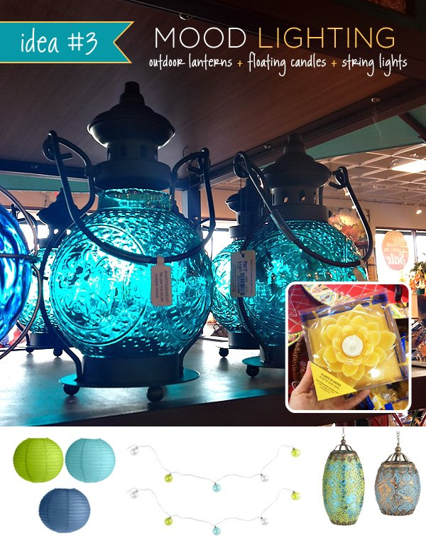 Pretty Outdoor Lanterns for a Summer Party