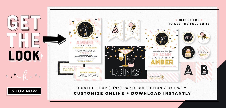Cofetti Pop Pink Printables