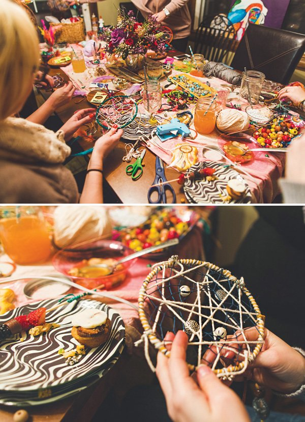 DIY dreamcatcher activity
