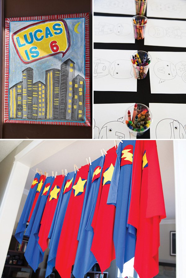DIY super hero capes