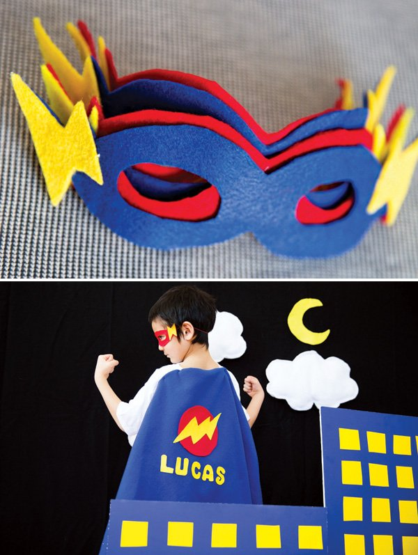 DIY super hero felt masks