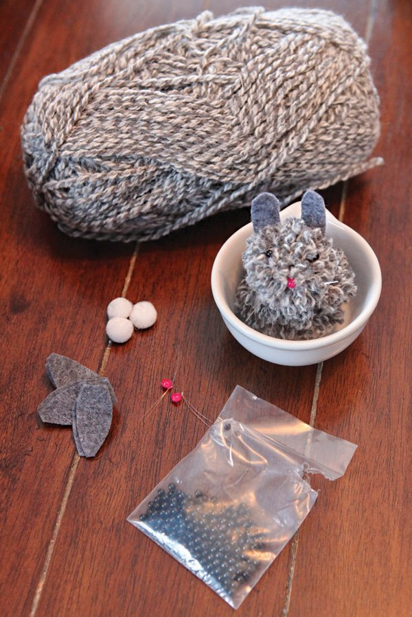 DIY yarn bunny activity