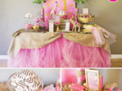 Glam Pink Safari Birthday Party