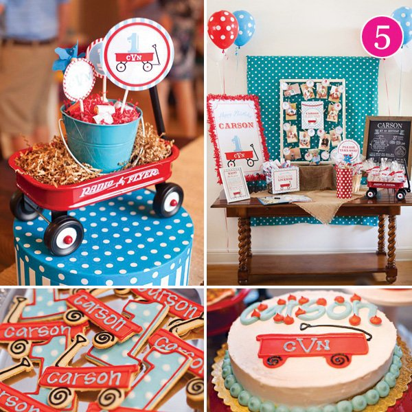 Little Red Wagon First Birthday Party