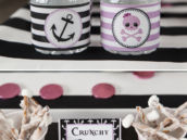 nautical girly pirate printables and treats