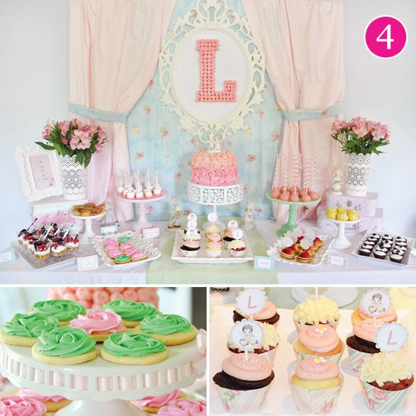 precious moments birthday party dessert table