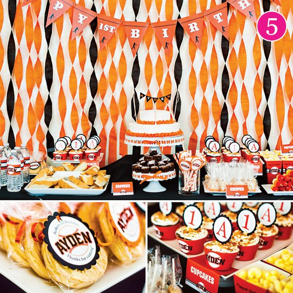 sf giants baseball first birthday party