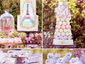 Springtime in Paris Party Dessert Table