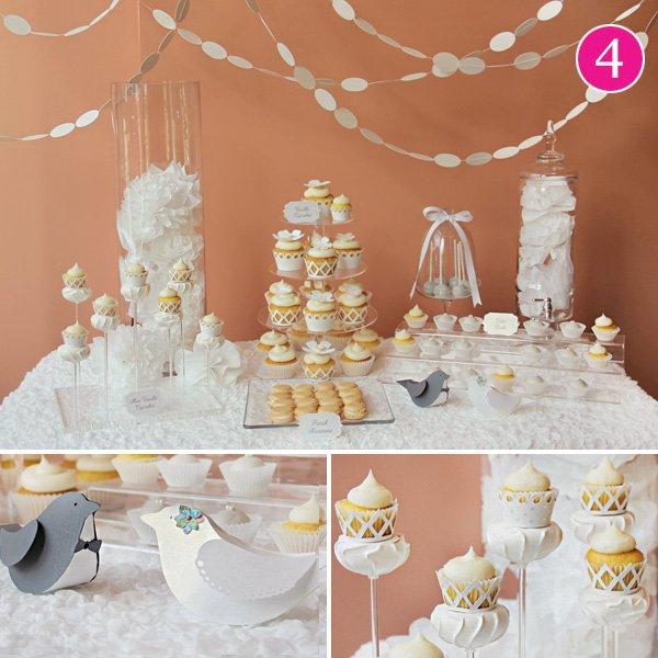summer love wedding dessert table