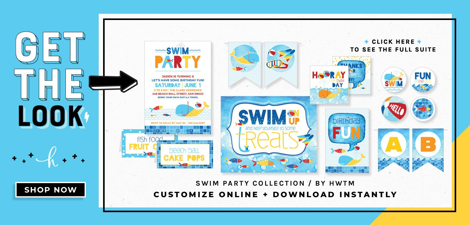 Swim Party Printables
