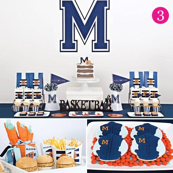 varsity basketball half birthday party
