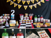 vintage formula 1 race car birthday party