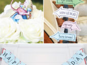 alice in wonderland birthday party signs