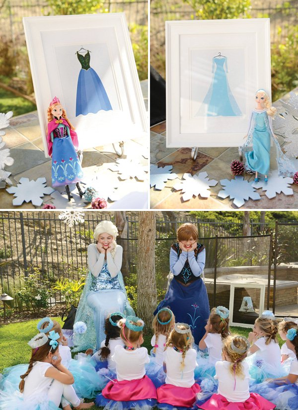 anna and elsa birthday party characters