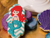 the little mermaid ariel inspired cookies