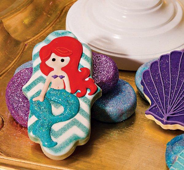 the little mermaid ariel inspired cookies