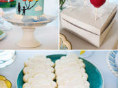 balloon and cloud themed desserts for an UP party