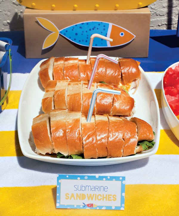 beach party submarine sandwiches and other food