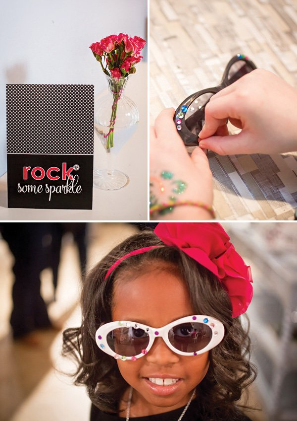 bedazzle your sunglasses party activity