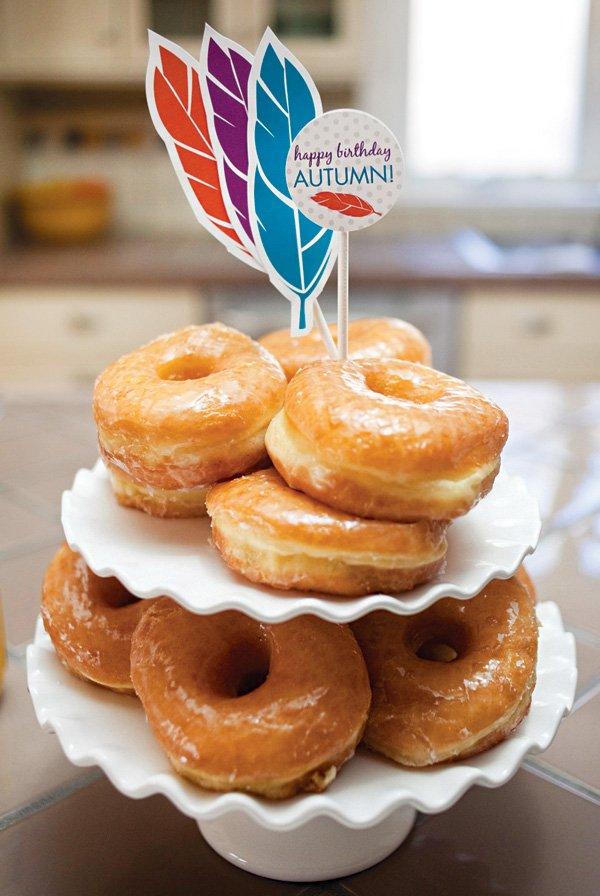 birthday party donuts breakfast