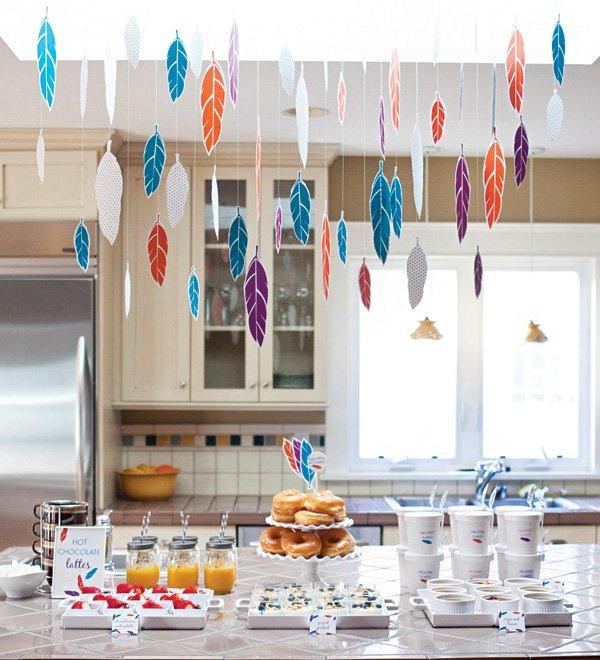 sleepover birthday party breakfast table