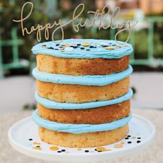 blue frosted naked cake